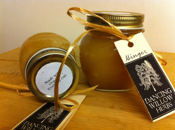 Ginger Essential Honey - Dancing Willow Herbs herbal honey - herbal formulas