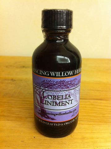 Lobelia Liniment - Dancing Willow Herbs Liniment - herbal formulas