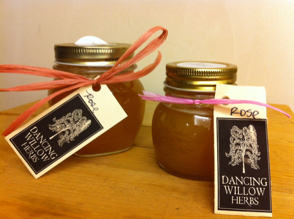 Rose Essential Honey - Dancing Willow Herbs herbal honey - herbal formulas