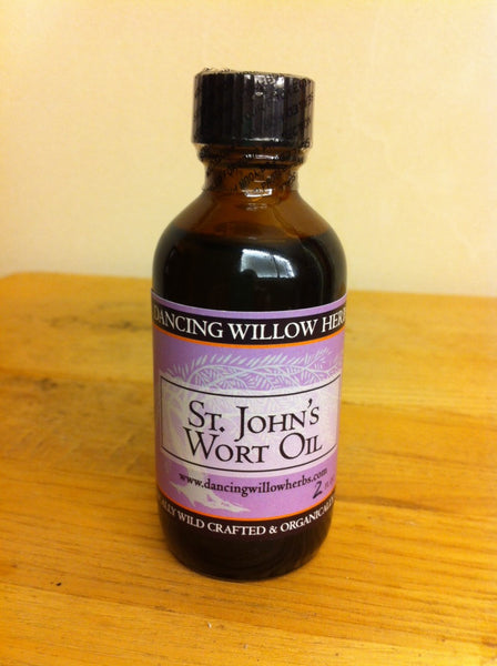 St. John's Wort Oil - Dancing Willow Herbs oil - herbal formulas