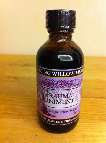 Trauma Liniment - Dancing Willow Herbs Liniment - herbal formulas