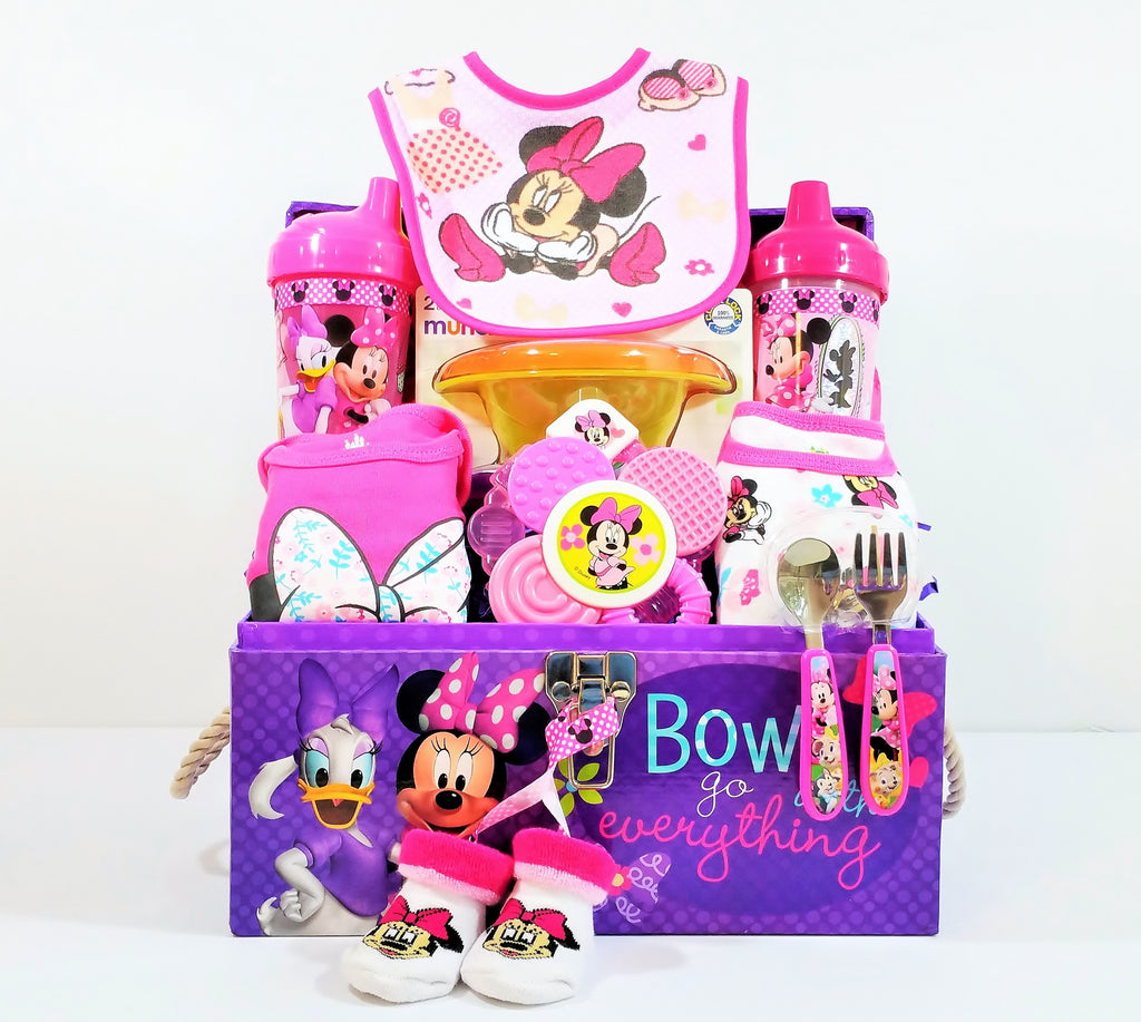 Minnie Mouse Daisy Duck Baby Girl Gift Basket Storage Trunk