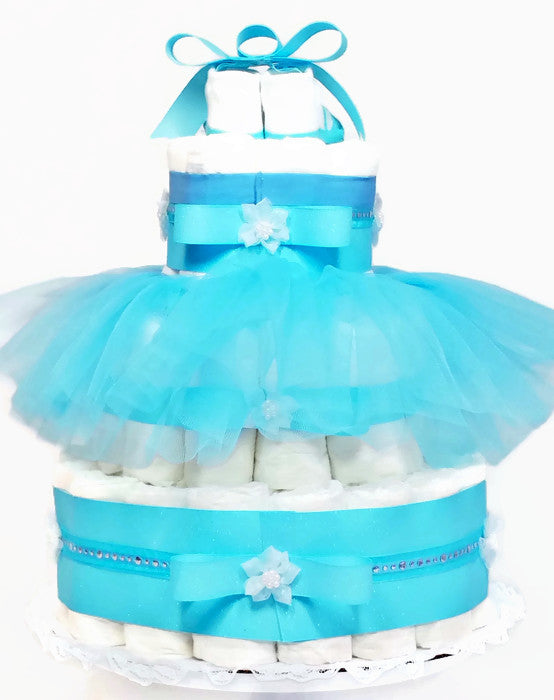 Cinderella Dreams Come True Baby Girl Diaper Cake Centerpiece As
