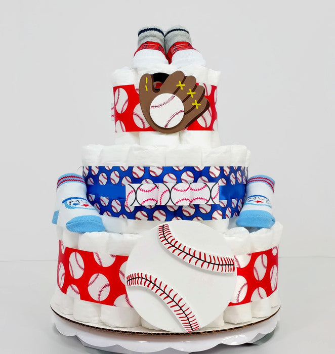 Daddy's Little MVP Baseball Boy Diaper Cake