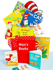 "Dr. Seuss ""My Favorite Books"" Children's Gift Basket with Personalized Tote - As Your Baby Grows Gift Boutique"