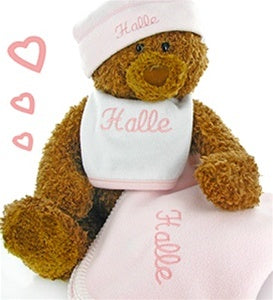 Gund Teddy Bear Collectible Baby Girl Gift Set