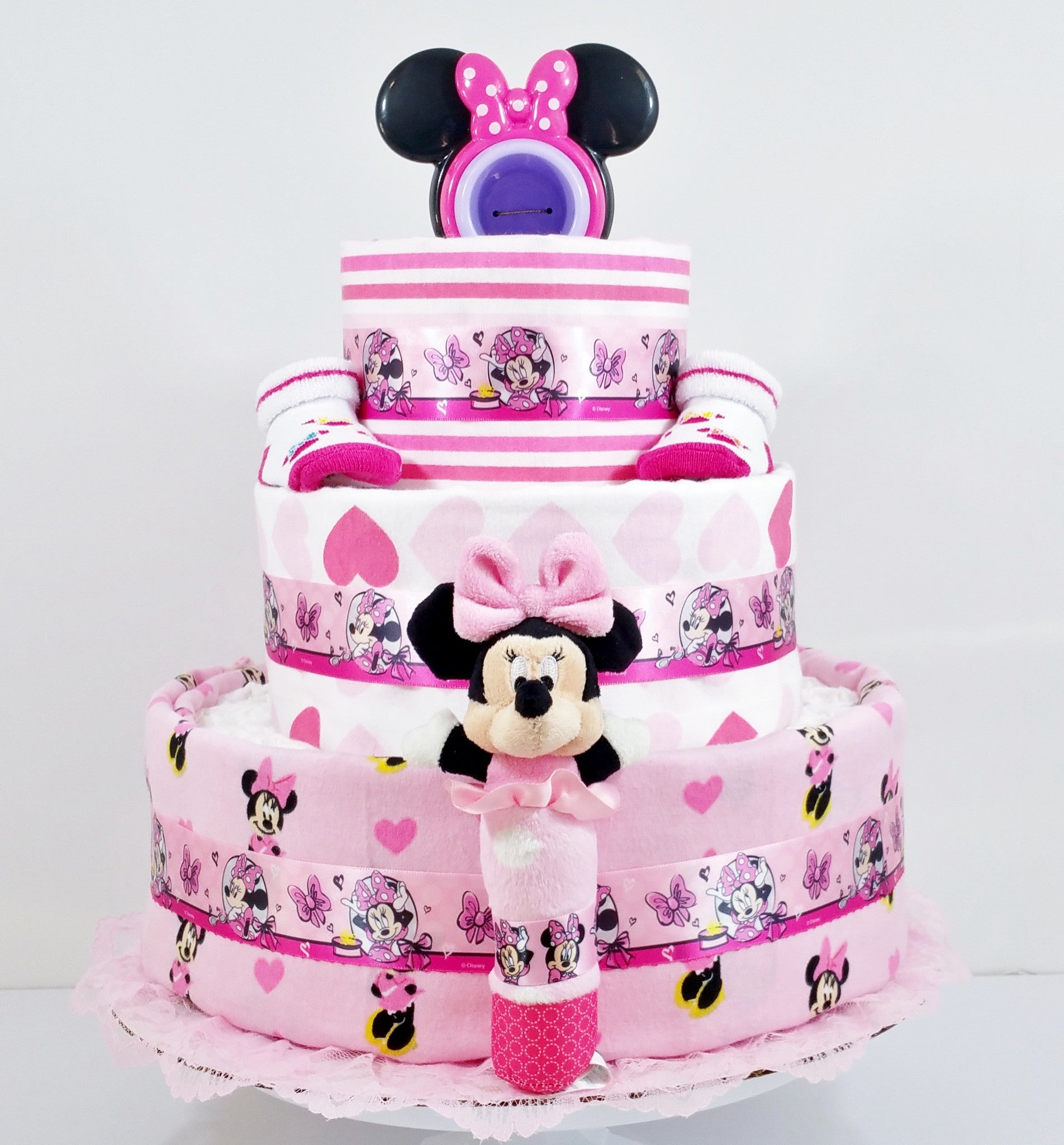Diaper Birthday Cake For  Year Old