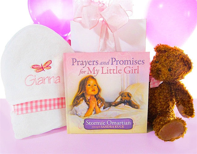 Prayers & Promises for My Little Girl Baby Gift Set (Free Personalization) - As Your Baby Grows Gift Boutique