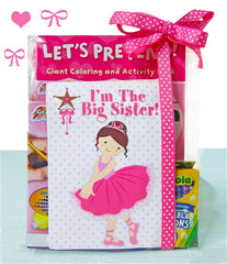 Big Sister Ballerina Coloring Book Gift Set - As Your Baby Grows Gift Boutique