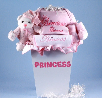 Little Princess Layette Baby Girl Gift Basket