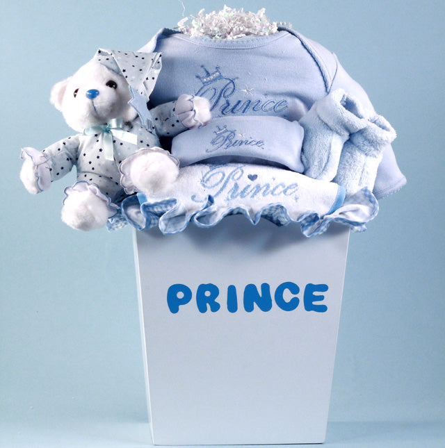 Little Prince Layette Baby Boy Gift Basket