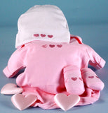 Little Heart of Mine Pink Baby Girl Diaper Cake Centerpiece