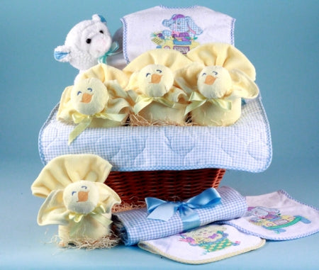Baby Boy's First Easter Holiday Gift Basket - BLUE