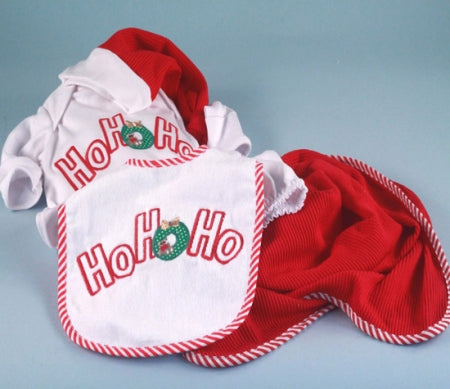 Ho! Ho! Ho! Christmas Gender Neutral Baby Holiday Outfit Gift Set