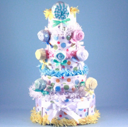 Deluxe Lollipop Gender Neutral Baby Diaper Cake