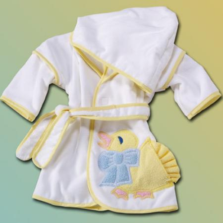 Little Duck Gender Neutral Hooded Baby Bathrobe