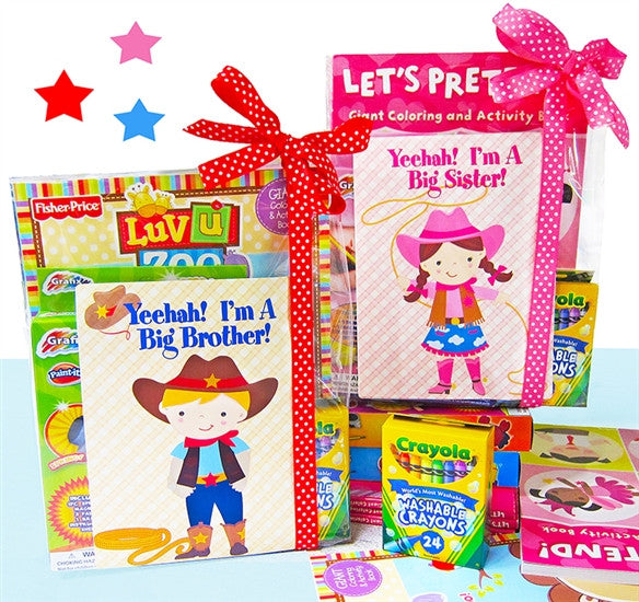Giddy Up Cowboy Cowgirl Sibling Coloring Activity Gift Set