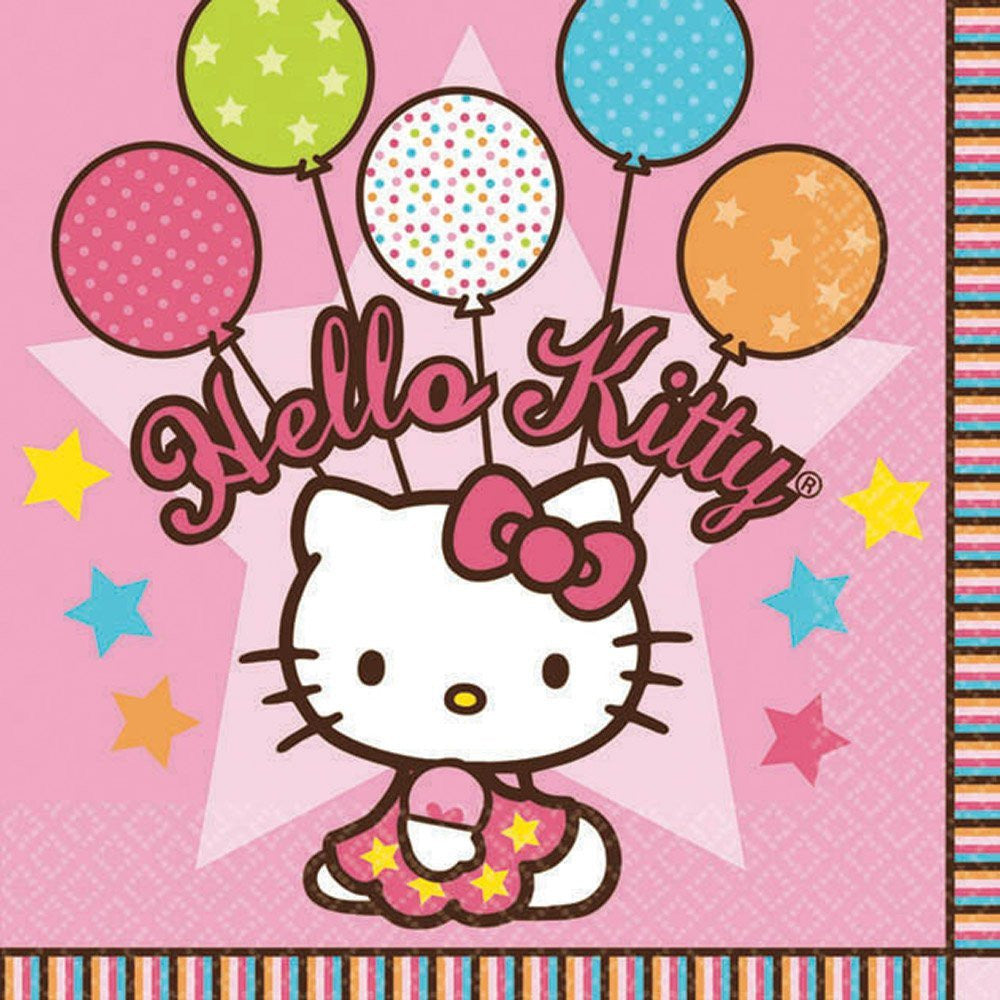 "Hello Kitty ""Balloon Dreams"" Girl Birthday Party Luncheon Napkins - As Your Baby Grows Gift Boutique"