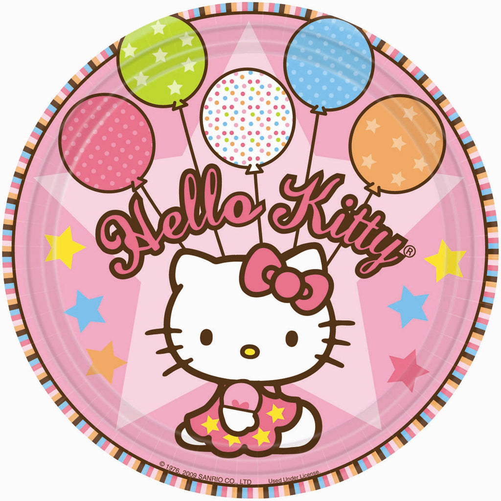 "Hello Kitty ""Balloon Dreams"" Girl Birthday Party Lunch Plates"