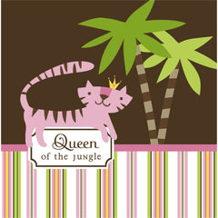 Queen of the Jungle Pink Girl Baby Shower Party Lunch Napkins - As Your Baby Grows Gift Boutique