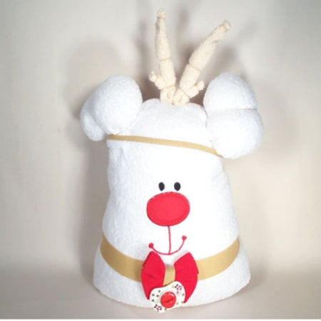 Reindeer Hooded Baby Bath Towel Gender Neutral Christmas Gift Set