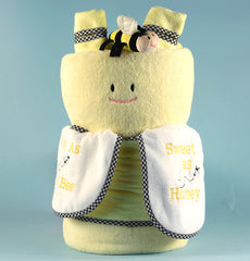 Cute As Can Bee Baby Blanket Gift Set - Gender Neutral