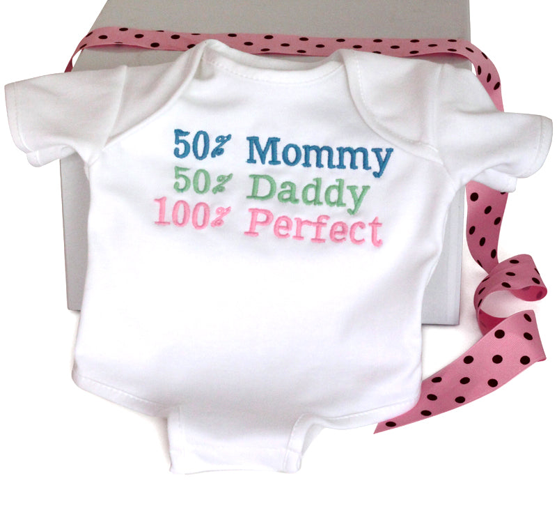 100% Perfect Baby Girl Onesie Cotton Bodysuit