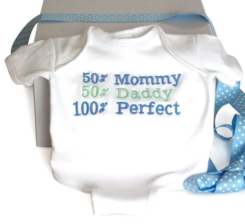 100% Perfect Baby Boy Onesie Cotton Bodysuit