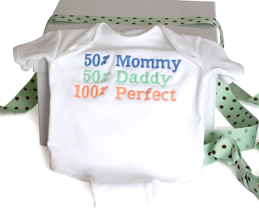 100% Perfect Baby Gender Neutral Onesie Cotton Bodysuit