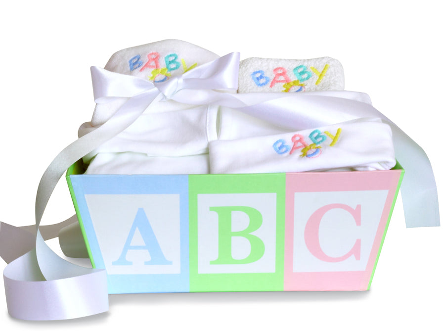 ABC Baby Layette Gender Neutral Gift Basket