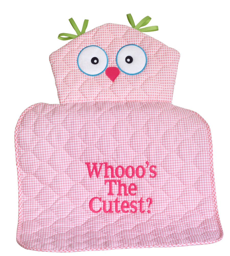 Pink Owl Diaper Changing Pad Baby Girl Gift