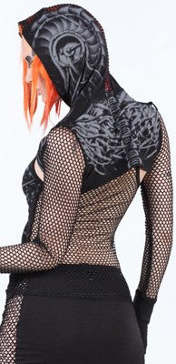 Jacket - Lip Service Erotomechanics Black Fishnet Cropped Jacket