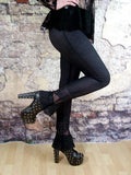 Leggings - Black Lace Bell Bottom Gothic Leggings