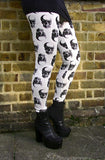 White Gothic Skull Leggings In Small To Plus Size