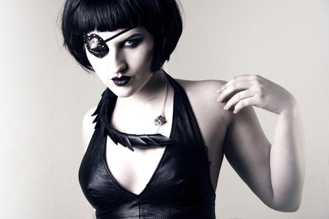Black Rubber Spine Necklace