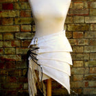 Skirt - Post Apocalyptic Asymmetric Skirt In Antiqued White Sizes Small To XXL