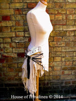 Post Apocalyptic Skirt In Antiqued White