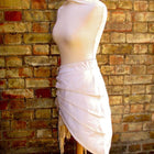Asymmetric Skirt In Antiqued White Sizes Small To XXL