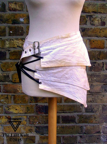 Unisex Post Apocalypse Miniskirt In White