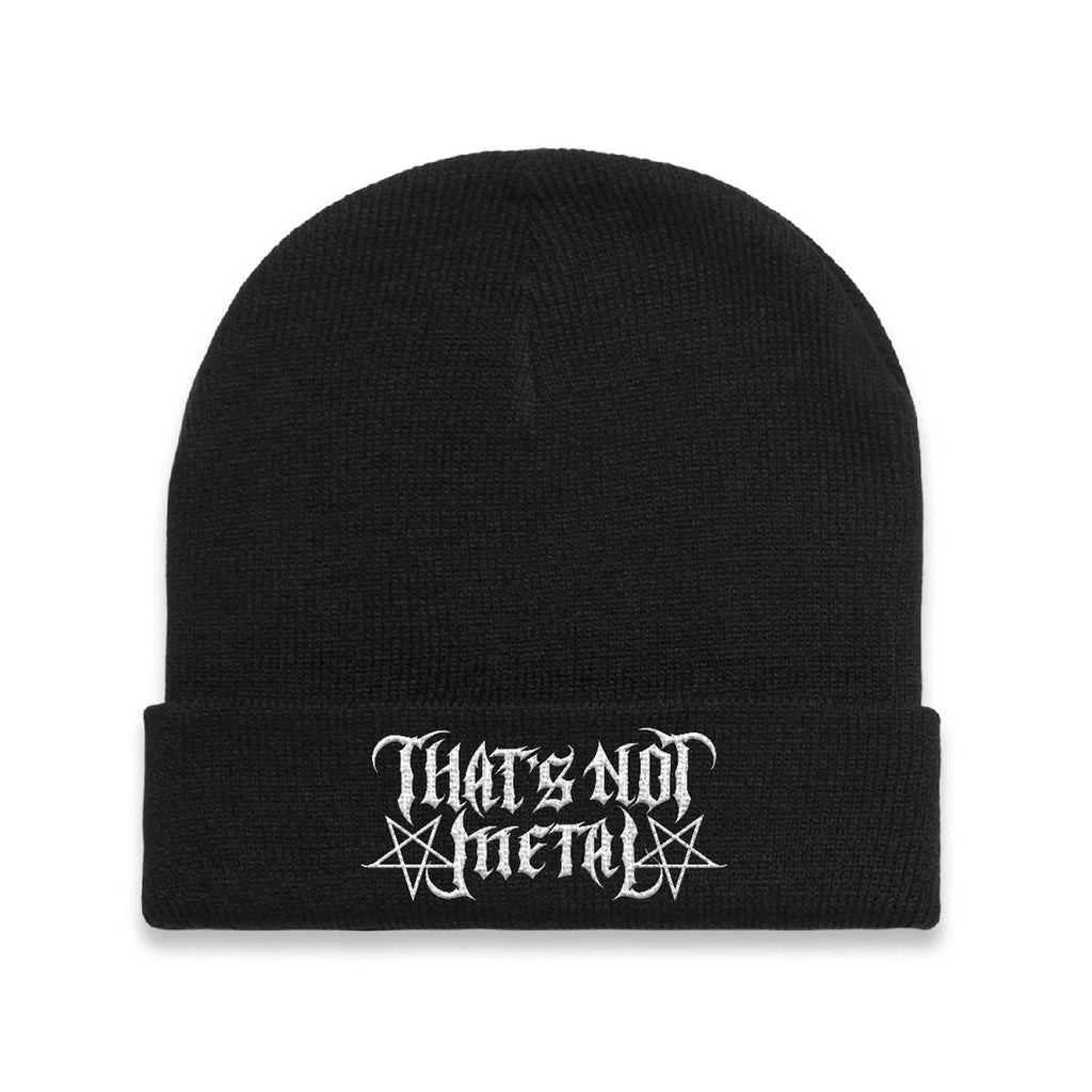 That's Not Black Metal Embroidered Beanie