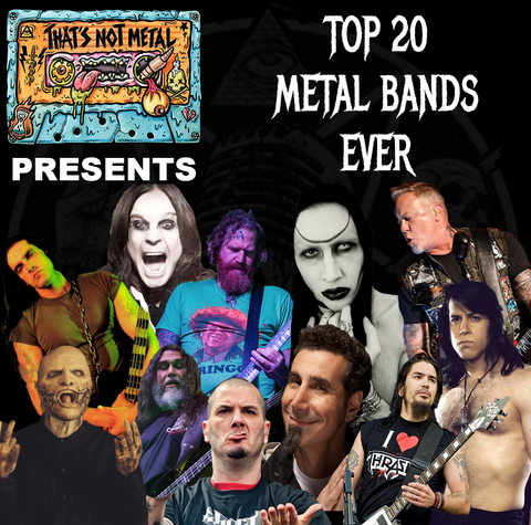 Top 20 Metal Bands Ever Special (Part 1)