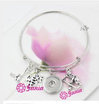 Hockey Charms Bangle Bracelet
