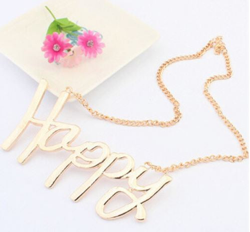Be HAPPY Necklace - Make Someone Happy Today!