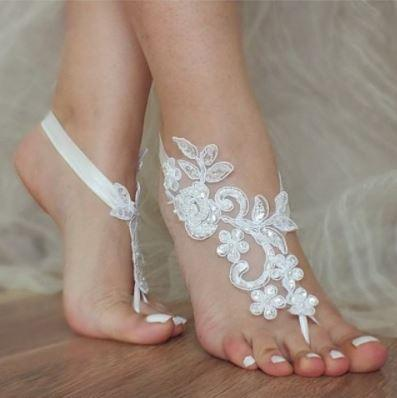 Alluring and Enchanting Barefoot Wear - Bride, Bridesmaid or Yoga Footwear