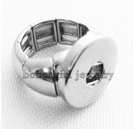 Elastic Design 1 Button Ring - Snap Button - 18mm