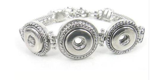 Trendy & Stylish 3 Button Bracelet - Snap Button - 12mm