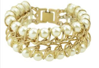 Bijoux Created Pearl Bangle Cuff Bracelet