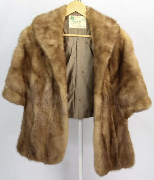 Vintage Ladies Autumn Haze Mink Fur Wrap