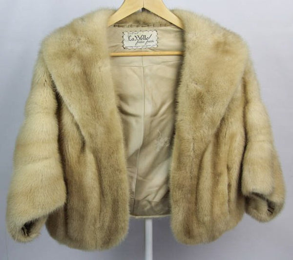 Vintage Ladies Tourmaline Blonde Mink Fur Stole