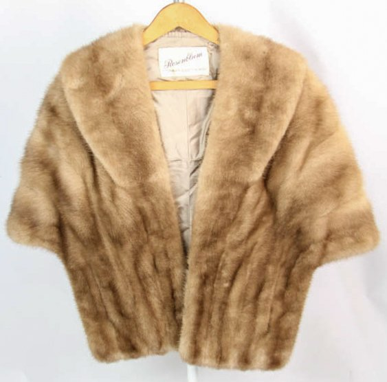 Vintage Ladies Light Brown Mink Fur Stole
